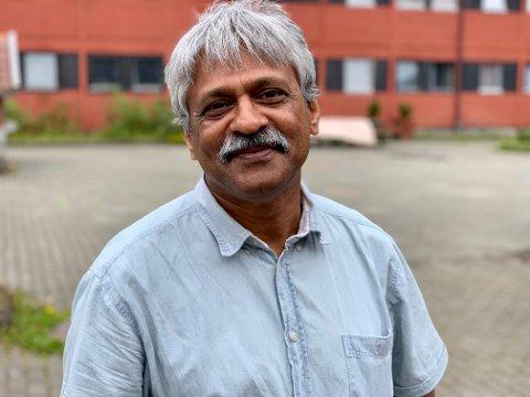 LEDER: Anpuchelvan Mahesan, eller bare Anpu, har jobbet på flyktningmottak i 19 år. Nå som daglig leder ved Hero sitt mottak på Stord.
