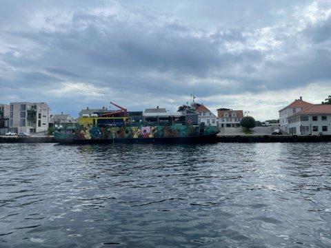 PÅ BESØK: Mandag ettermiddag var Kulturbåten MS Bjørvika vel fremme i Kopervik.