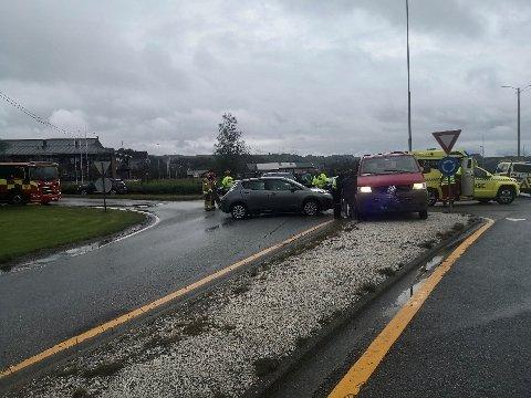 UHELL: Trafikkulykke i Aksdal onsdag ettermiddag.