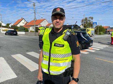 INNSATSLEDER: Frode Fidjeland i politiet.