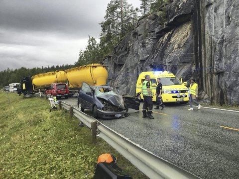 Bilulykke Ravatn. Foto: Rune Pedersen