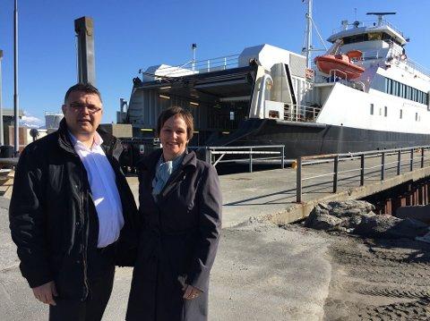 Mer til ferge: Kjell Børge Freiberg og Margunn Ebbesen gleder seg over økte tilskudd til fergesambandene i Nordland.