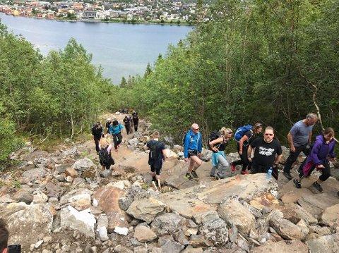 Mange har benyttet seg av Helgelandstrappa i løpet av sommeren, og om alt går som Helgeland Reiseliv og Widerøe planlegger kommer det til å bli langt flere fotturister på Helgeland i framtiden.