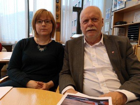 FELLES FRONT: Varaordfører Åshild Pettersen (SV) og ordfører Jann-Arne Løvdahl tar skarp avstand fra FMI og løpesedlende deres.