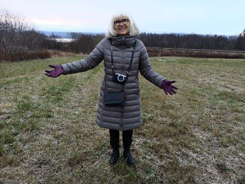 Stort område: Hele området som ble endevendt av arkeologene, var på 1600 kvadratmeter. Og her står arkeolog Birgitta Berglund midt i historien.