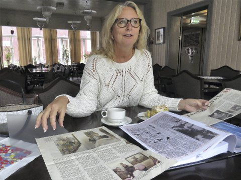 Kunstnerliv: Inger Meyer kommer til Galleria med bilder som faren, Hans Nordeng, har malt gjennom et langt liv. (Foto: Asbjørg Sande)