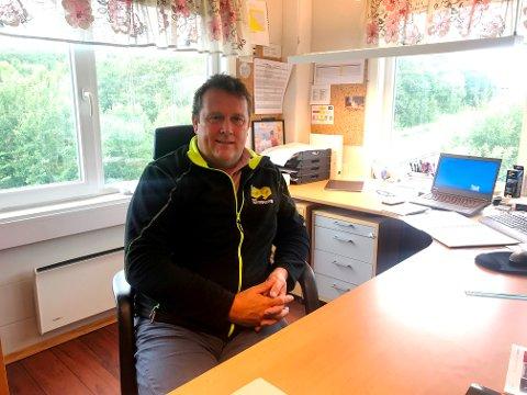 Knut Leirvik er avdelingsleder for B-G Entreprenør som har etablert seg på Radåsen i Sandnessjøen. - Det er mye spennende som skjer på Helgeland framover, sier han.