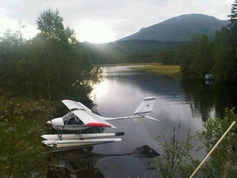 Bildet viser det aktuelle mikroflyet ved en annen anledning.