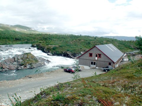 Bildet viser Børgefjellfisk sitt anlegg vest i Krutfjellet.