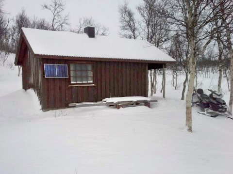 Det er denne hytta ved Vestre Tiplingan som er stridens kjerne i Alstahaug tingrett.