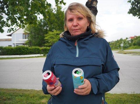 REAGERER: Kirsten Mikkelsen Haldorsen reagerte da sønnen på 10 år fikk kjøpe store mengder energidrikk på Circle K på Elvebakken.