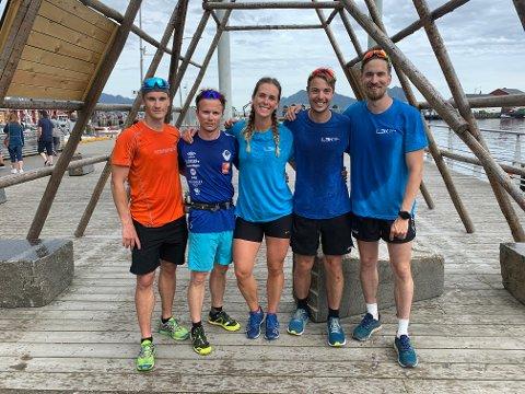 Annerledes: Joakim Haugen Finsås, Stian Iversen, Eirin Skjoldli, Eivind Holstad og Jonas Søttar valgte en annerledes og aktiv sommerferie i år.