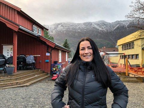 NY LEDER: Trine Solfjeld Johannessen, opprinnelig fra Dønna, er ny daglig leder i Dolstad barnehage i Mosjøen.