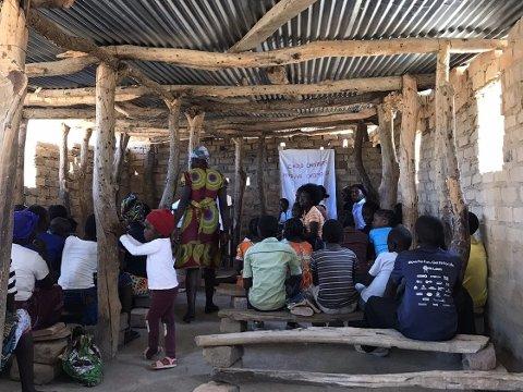 Skole: Slik ser skolen ut i Zambia.