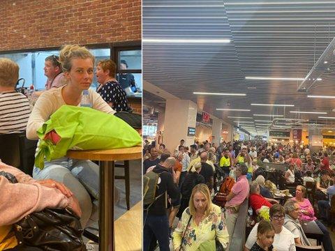 Therese Gjelseth (25) er en av de mange passasjerene som lørdag kveld er sandfaste på Gran Canaria. Foto: Privat