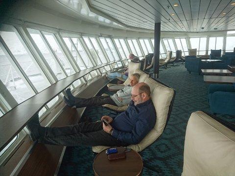 Koronafaste: Tore og Reidulf Hov ble koronafaste ombord på hurtigruteskipet Nordkapp da de skulle reise fra Krikenes til Sandnessjøen lørdag.