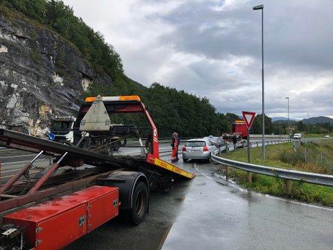To personbiler var involvert i kollisjonen på Baustein