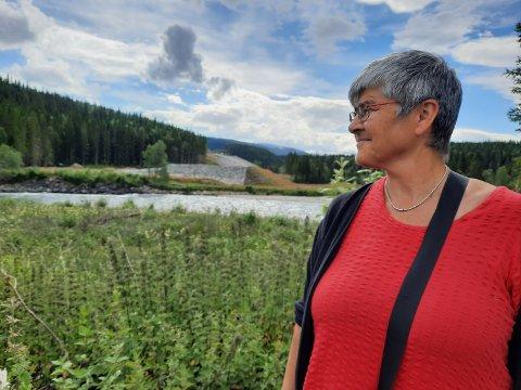FELLES LØFT: Graneordfører Ellen Schjølberg (Sp) sier at alle parter må gå i samlet flokk for å realisere gjenoppretting av laksetrappa i Fellingforsen.