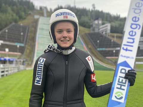 FORNØYD: Eirin har god grunn til å være fornøyd under landslagssamlinga på Lillehammer. Hun startet med å tukte alle de andre.