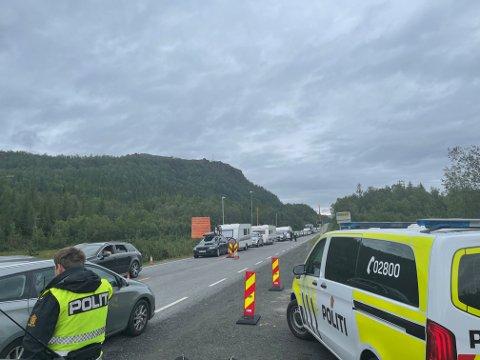 PÅ GRENSEN: Bildet ble tatt på Bjørnfjell torsdag 5. august.