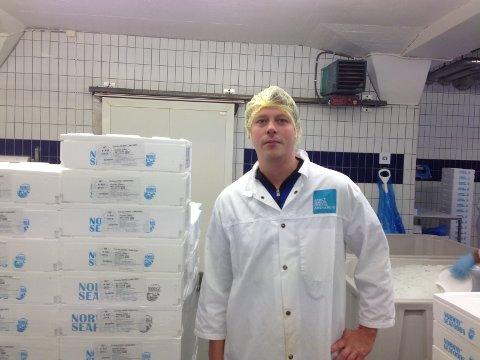 REAGERER: Frank Arne Ylänen på Sørvær reagerer på at nå skal arbeidsledige settes i arbeid på fiskebrukene.