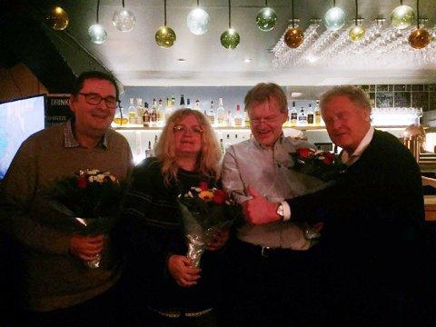 Her er laget som skal representerer Hammerfest og Finnmark. Fra venstre: Svein Harald Johnsen, Merete Ødegaard, Peter Prydz og programleder Dan Børge Akerø.