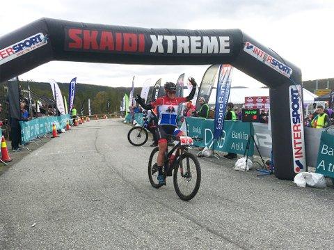 Hielke Elferink vant dameklassen i Skaidi Xtreme.