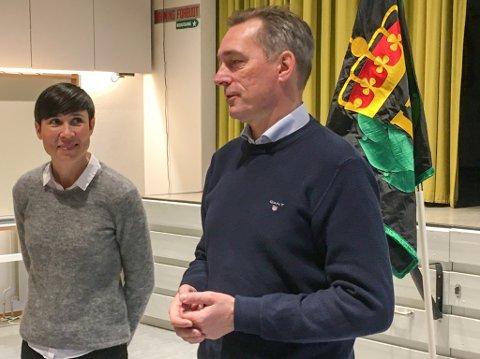 """ARVTAKER:  Frank Bakke-Jensen ble Ine Marie Eriksen Søreide sin arvtaker som forsvarsminister. Nå holder de løftene fra møtet på Porsangmoen om investeringer i Porsanger. Skjold ofres på dette """"alteret"""""""