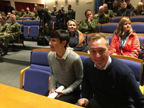 Frank Bakke-Jensen er ny forsvarsminister. Her avbildet på Porsangmoen tidligere i uka.