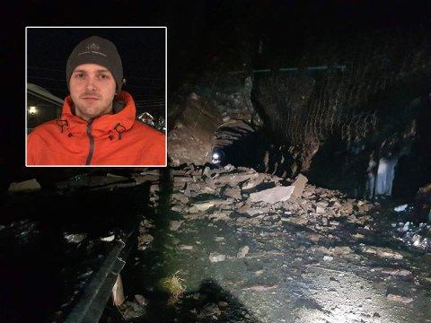 STARTER PÅ NYÅRET: I begynnelsen av januar starter arbeidet med rassikring rundt Falkebergtunnelen. Geolog Trond Jøran Nilsen sier det er et utfordrene område å jobbe med.