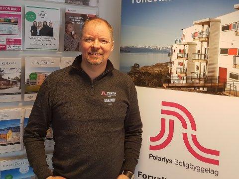 LEDER: Oddmund Eriksen er daglig leder i Polarlys Boligbyggerlag AL.