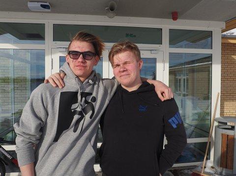 FÅ GJØR SOM DISSE TO: Ferske undersøkelse viser at færre unge ønsker å bli fagarbeidere. Patrik Olsen (15) og Johannes Jakobsen (15), derimot er godt motivert til utdanningen.