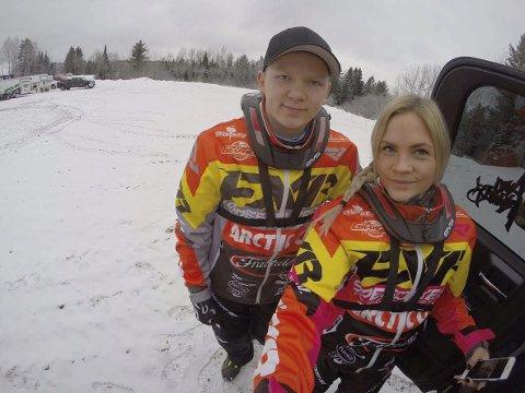 TO FINALER: Martin Moland her sammen med Marlene Trosten Andersen, avsluttet sesongen med en 8. plass i finalen i sin første proffsesong i USA. Foto: Privat.