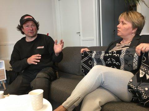 FREKT OG ARROGANT: Øyvind Lindbäck reagerer på at ordfører Aina Borch ikke presset på for at flere aktører skulle få delta på befaringen.