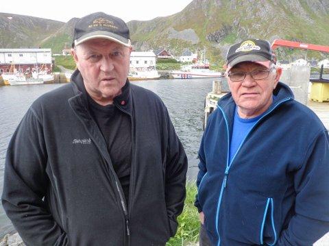 LUS FØR OGSÅ: - Hvor kom lakselusa fra før oppdrettsanleggenes tid? spør de gamle laksefiskerne Geir Henriksen og Odd Jensen fra Sørvær.
