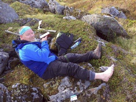 RØK: Akillesen røk rett av. Pål Inge Hansen ventet knappe to timer på å bli hentet ned fra fjellet av redningshelikopteret.