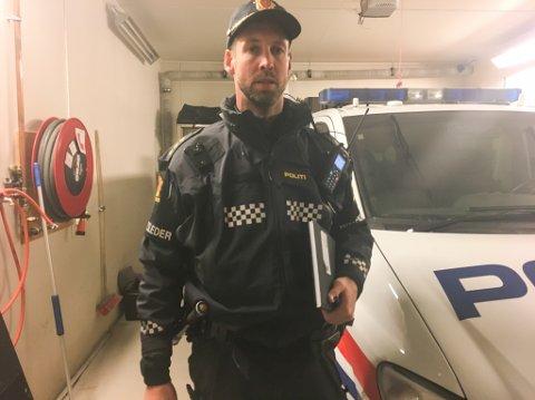 PÅ VOLDSTOPPEN: Kun én kommune i Akershus har flere voldshendelser enn Porsanger. Arkivbilde fra politigarasjen i Lakselv.