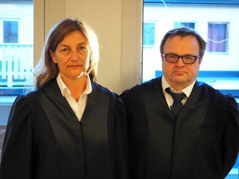 FORSVARSTEAM FOR KVINNEN: Hovedforsvarer for kvinnen er Gisken Brugot, her sammen med advokatfullmektig Jørn Are Gaski.