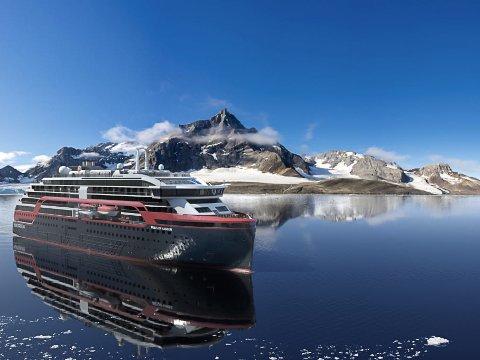 HURTIGRUTEN: Slik vil det nye Hurtigruten-skipet se ut. - Det er skip som flytter grenser og som setter en ny standard for hele den globale cruiseindustrien, sier administrerende direktør Daniel Skjeldam.