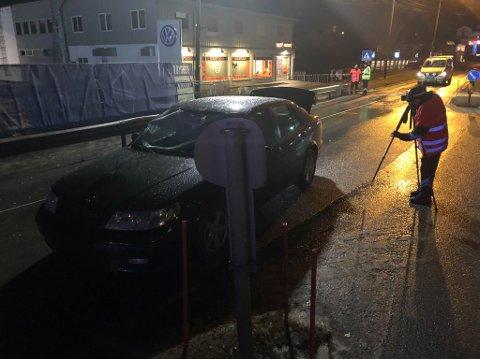ULYKKESSTEDET: Ulykkesgruppa til Statens vegvesen har kartlagt om det er behov for trafikksikkerhetstiltak i gangfeltet etter dødsulykken 1. november 2018.