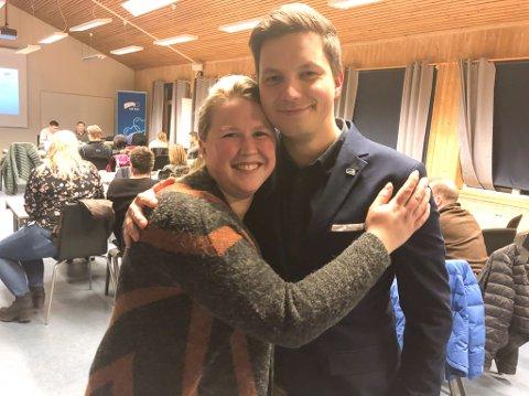 TO PÅ TOPP: Jonas Nymo er ordførerkandidat og Nina Eriksson er varaordførerkandidat for Høyre i Porsanger.