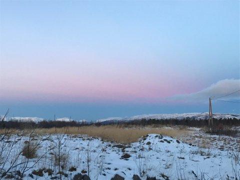FIN JUL: Litt snø, men ikke mye, lover meteorologen. Bildet er tatt i Alta tidligere i vinter.