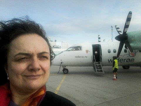 REAGERER: Sylvi Jane Husebye (Ap) er oppgitt over måten passasjerer som ikke rekker flyet sitt videre nordover blir behandlet.