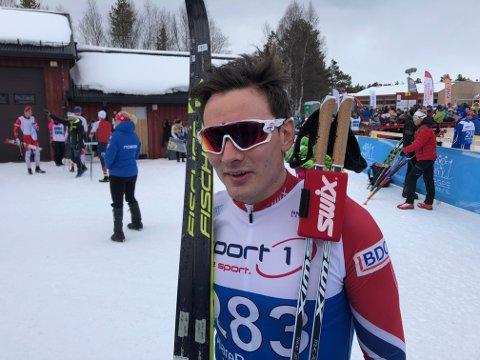 VANT: Finn Hågen Krogh gikk til topps på NM-sprinten. Her fra Kaiskuru i 2018.