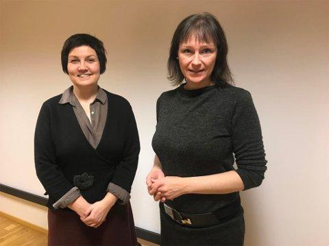 ENIGE: Sametingspresident Aili Keskitalo (til venstre) og Alta-ordfører Monica Nielsen er blitt enige om en avtale mellom Sametinget og Alta kommune. Avtalen skal snart til politisk behandling i Alta kommune. Her er et bilde fra da de to møttes i november 2017 og diskuterte avtalen.
