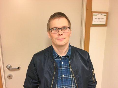 TAR VANNET: Tom Jøran Olsen, leder for kommunalteknikk i Porsanger, melder at Lakselv kan bli uten vann i omlag fem timer i natt.