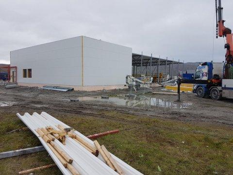 Tecto er godt i gang med Coop-bygget i Mehamn som skal ferdigstilles i november.