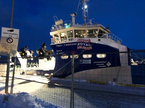 NY BÅT: Dette er den nye servicebåten til Norway Royal Salmon.