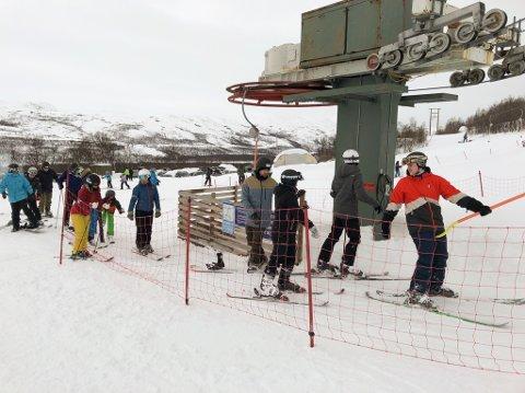 ÅPNES IGJEN: Lørdag 2. februar blir det mulig å ta skiheisen på Skaidi. Foto: Trond Ivar Lunga