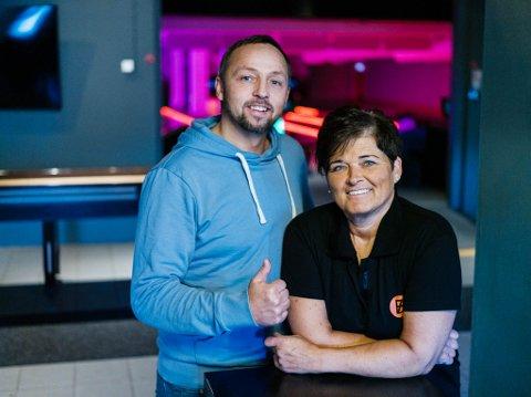 Tommy Niska og Trine Albrigtsen på Hammerfest bowling/SOT